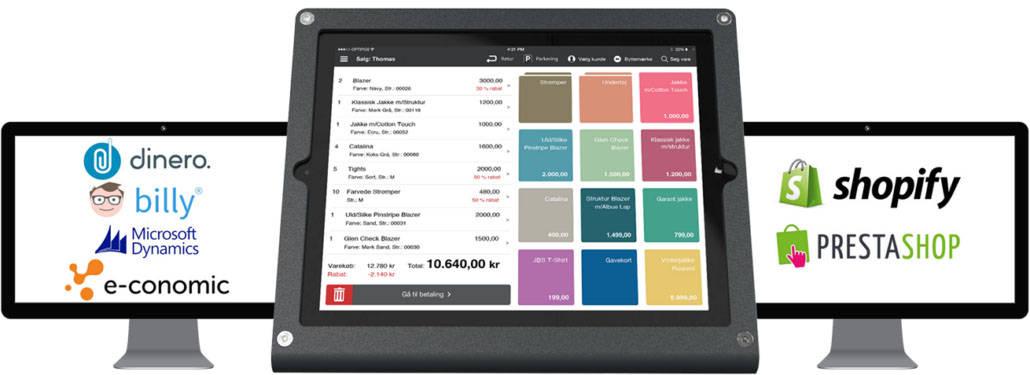 Sofier kasseapparat med integration til dit økonomisystem og web shop